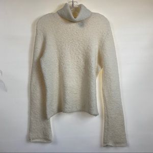 Moda International Turtleneck Sweater Off White XL